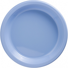 Pastel Blue Plastic Dinner Plates 20ct