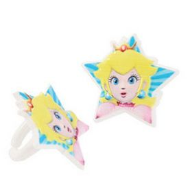 Princess Peach Cupcake Rings 6pcs