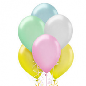 Assorted Pastel Pearl Balloons 10ct