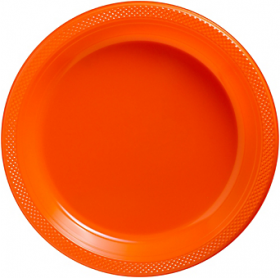 Orange Peel Plastic Dinner Plates 20ct
