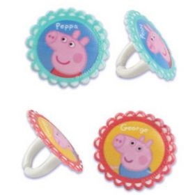 Peppa Pig Cupcake Rings 6pcs