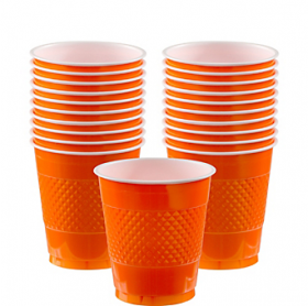 12oz  Orange Peel  Plastic Cups 20ct