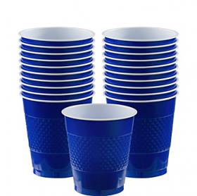 12oz Bright Royal Blue Plastic Cups 20ct