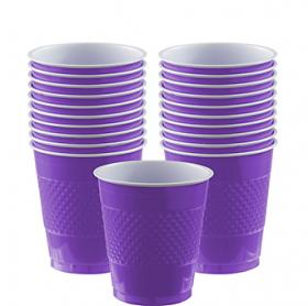 12oz  New Purple  Plastic Cups 20ct