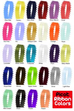 Custom Printed Ribbons (25 Precut Picot Style)