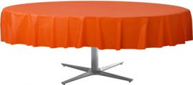 Orange Peel Round Plastic Table Cover