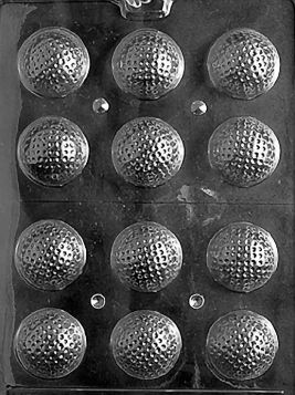 3D Golf Balls - Chocolate Mold