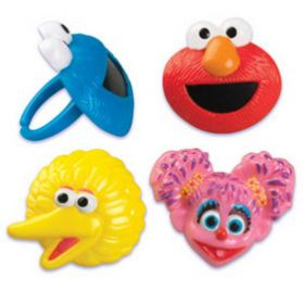 Sesame Street The Gang Cupcake Rings 6pcs