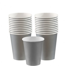 Silver  Paper Cups 20ct