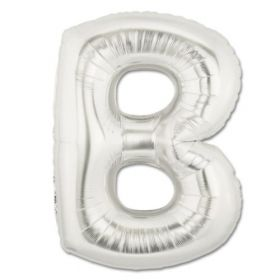 """34"""" Inch Letter B Silver Giant Foil Balloon Uninflated"""