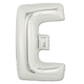 """34"""" Inch Letter E Silver Giant Foil Balloon Uninflated"""