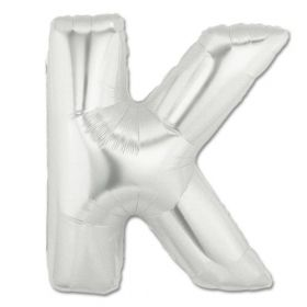 """34"""" Inch Letter K Silver Giant Foil Balloon Uninflated"""
