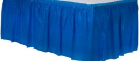 Bright Royal Blue  Plastic Table Skirt