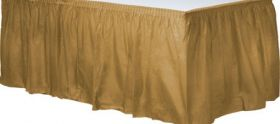 Gold Sparkle  Plastic Table Skirt