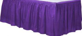 New Purple  Plastic Table Skirt