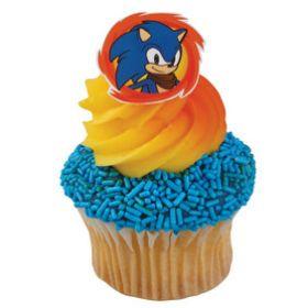 Sonic Cupcake Rings 6pcs