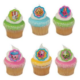 Shopkins Cupcake Rings 6pcs