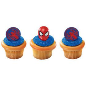 Spider Cupcake Rings 6pcs