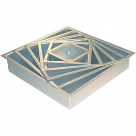 14 X 14 X 2 Square Aluminum Pan (1PC) (Fat Daddio's)
