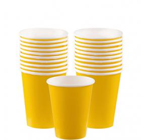 Yellow Sunshine Paper Cups 20ct