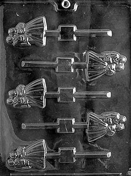 Bride & Groom Chocolate Lollipop Molds