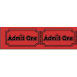 Tyvek Identification Wristbands – Admit One – Red (100 bands)