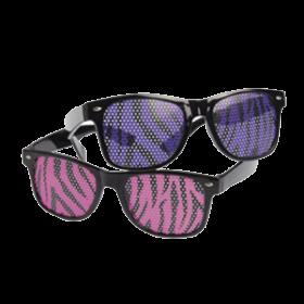 Neon Zebra Print Glasses