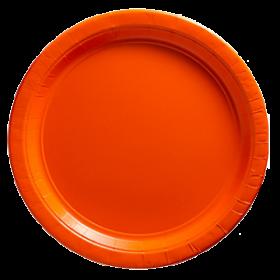 Peel Orange Paper Dinner Plates 20ct