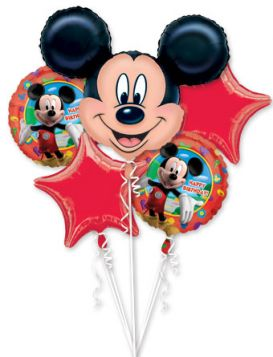 Mickey Mouse Happy Birthday Balloon Bouquet 5pc