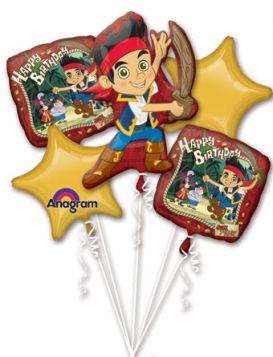 Jake & the Never Land Pirates Balloon Bouquet 5pc