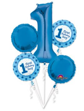 1st Birthday Balloon Bouquet 5ct.