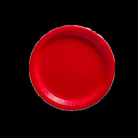 Apple Red Paper Dessert Plates 20ct
