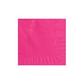 Bright Pink Beverage Napkins 50Ct