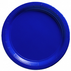 Bright Royal Blue Paper Dinner Plates 20ct