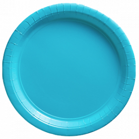 Carribbean Blue Paper Dinner Plates 20ct