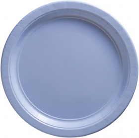 Pastel Blue Paper Dinner Plates 20ct