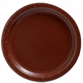 Chocolate Brown Paper Dinner Plates 20ct