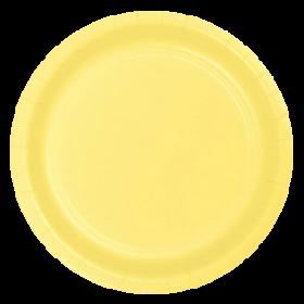 Light Yellow Paper Dinner Plates 20ct