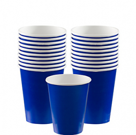 Bright Royal Blue Paper Cups 20ct