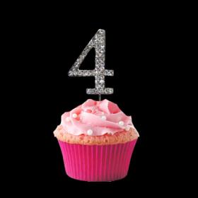 #4 Cupcake Monogram Toppers