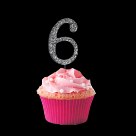 #6 Cupcake Monogram Toppers