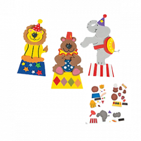Carnival Animal Magnet Craft Kit (1dz)