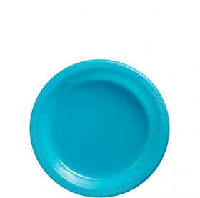 Carribbean Blue Plastic Dessert  Plates 20ct