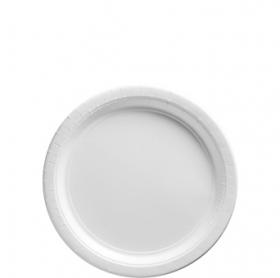 Frosty White Dessert Plates 20ct