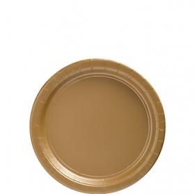 Gold Sparkle Paper Dessert Plates 20ct