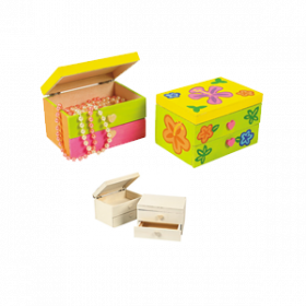 DIY Wood Jewelry Boxes (1dz)