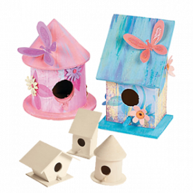 DIY Wood Nesting Birdhouses (6pcs)