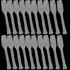 Silver Premium Quality Plastic Forks 20ct