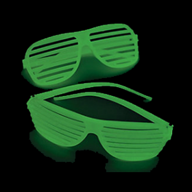 Glow-in-the-Dark Shutter Shading Glasses  (1doz)