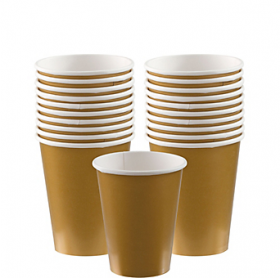 Gold Sparkle Paper Cups 20ct